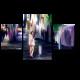 Девушка на улице вечернего Токио
