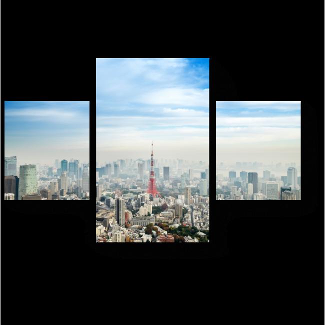 Модульная картина Символ Японии -Токийская телебашня