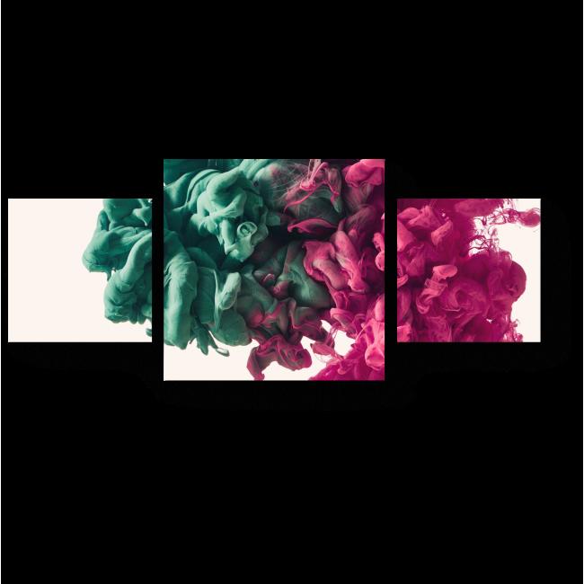 Модульная картина Чернильный узор