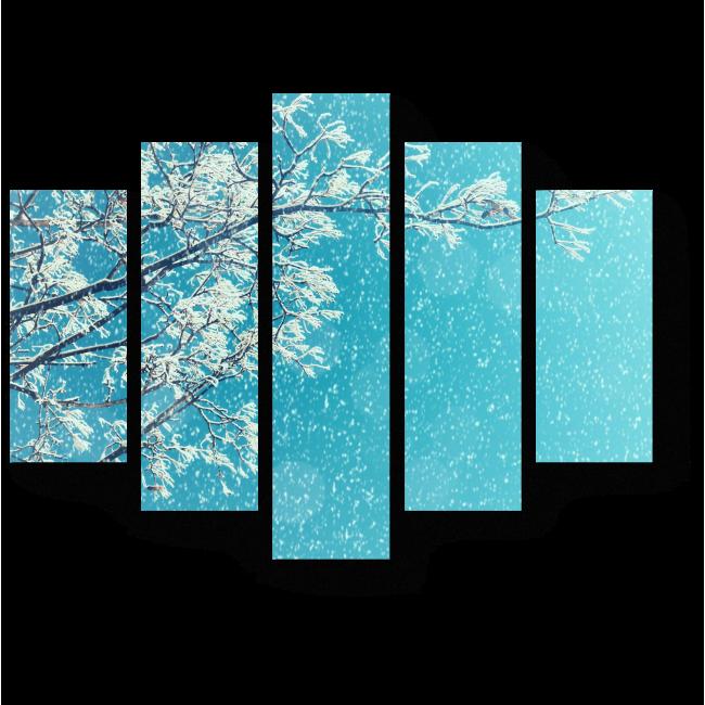 Модульная картина Очарование зимы