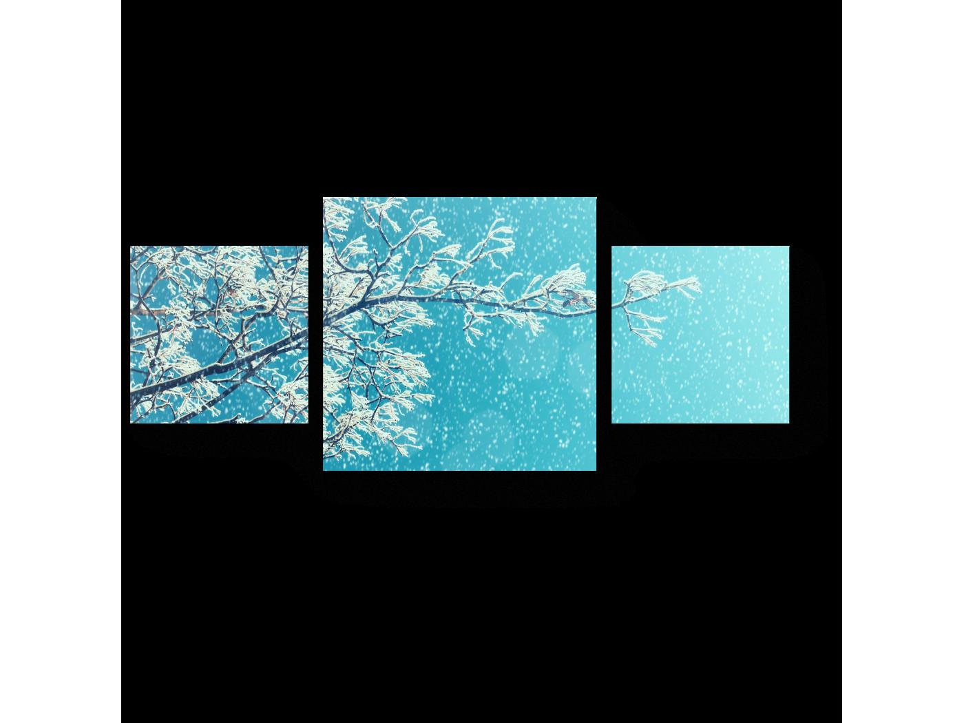Модульная картина Очарование зимы (70x30) фото