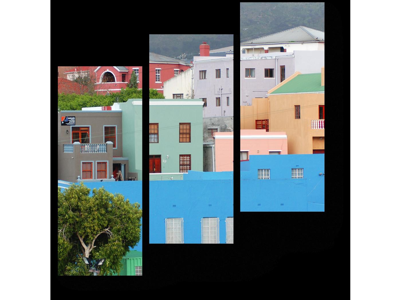 Модульная картина Дома района Бо-Каап, Кейптаун (60x64) фото