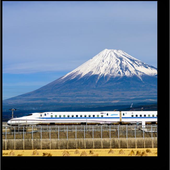 Модульная картина Поезд на Фудзи