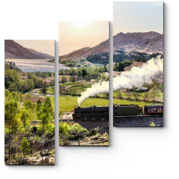 Модульная картина Поезд в Шотландии