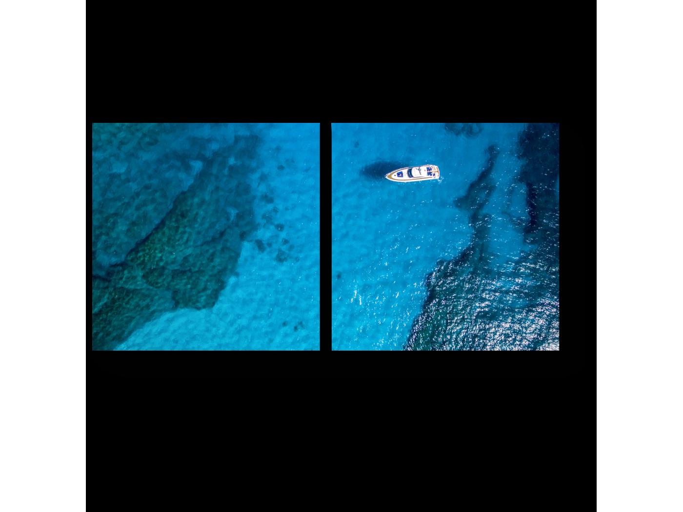 Модульная картина В открытом океане (40x20) фото