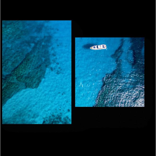 Модульная картина В открытом океане