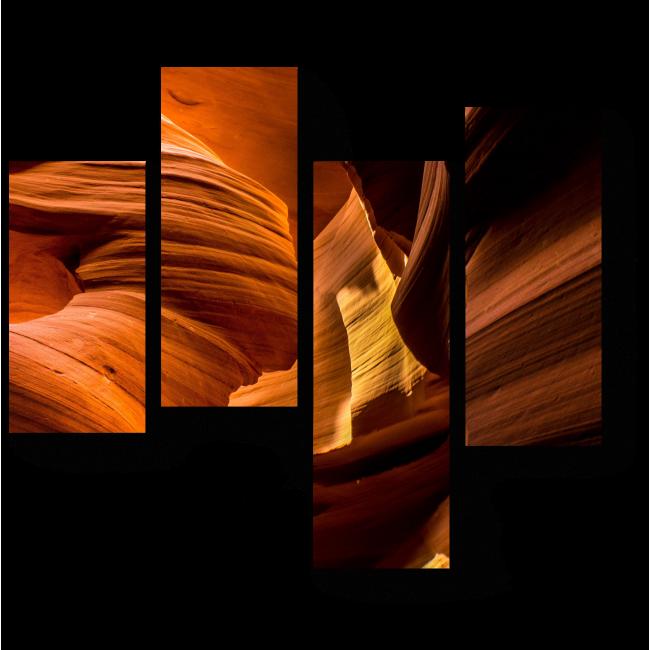 Модульная картина Прекрасные цвета каньона