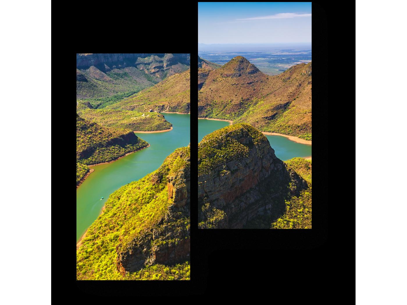Модульная картина Зеленый каньон (40x50) фото