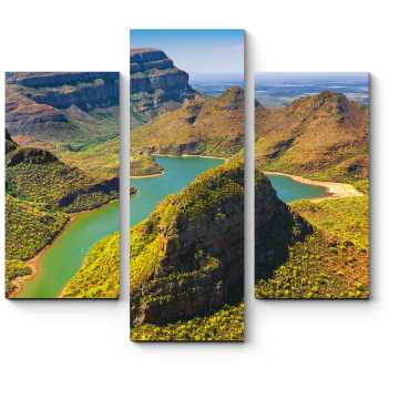 Модульная картина Зеленый каньон