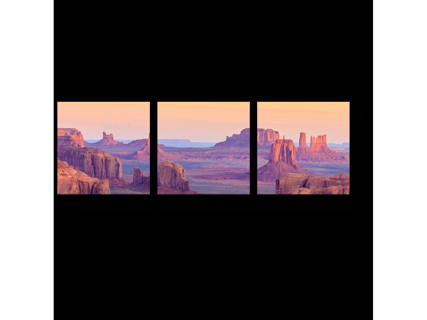 Модульная картина Восход в Долине монументов (60x20) фото