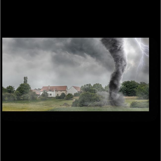 Модульная картина Грозный ураган