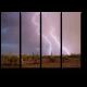Вспышки молнии в пустыне