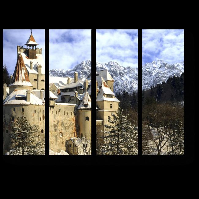 Модульная картина Замок Дракулы в Румынии