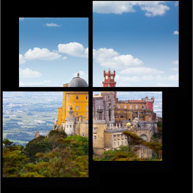 Модульная картина Дворец Пена в Португалии