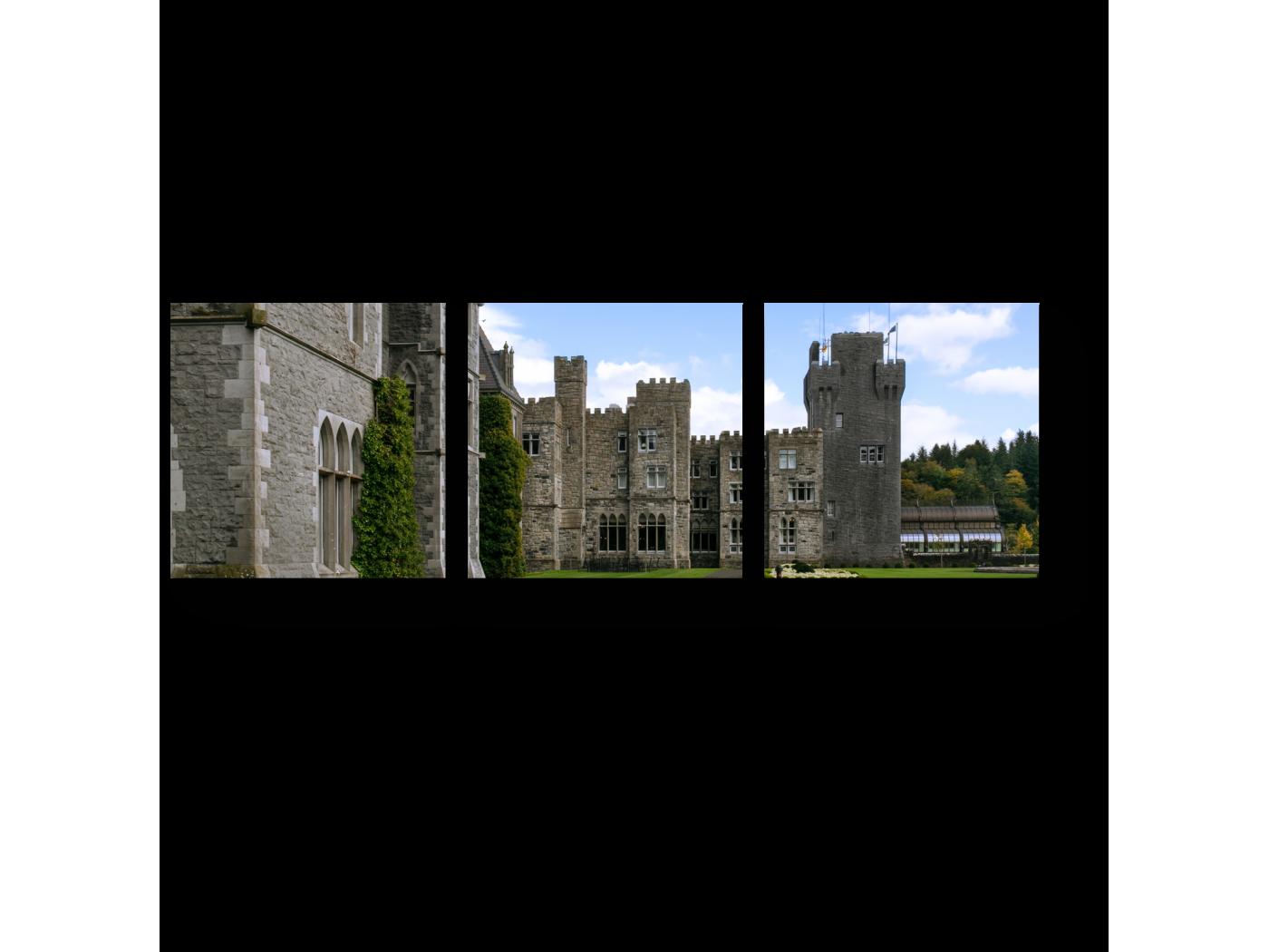 Модульная картина Средневековый замок в Ирландии (60x20) фото