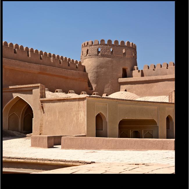 Модульная картина Замок Райен в Иране