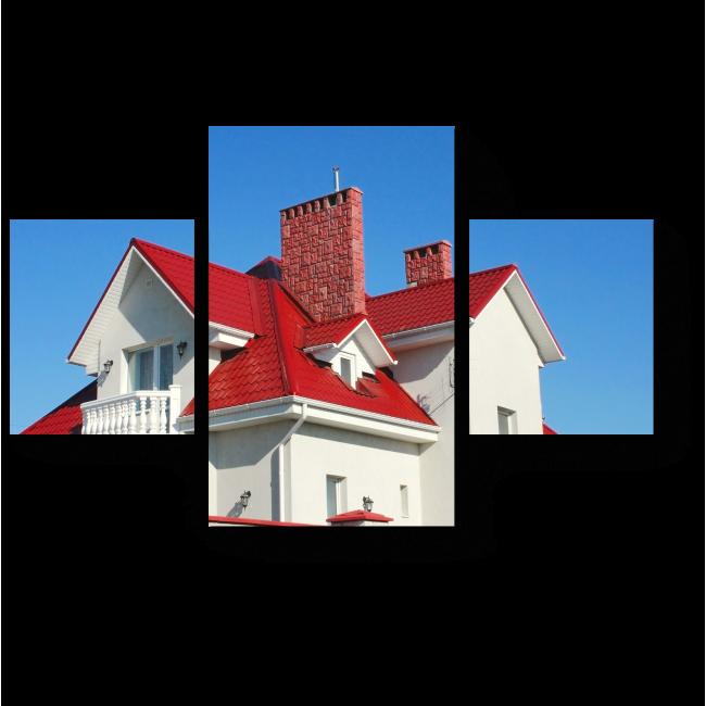 Модульная картина Дом с красной крышей