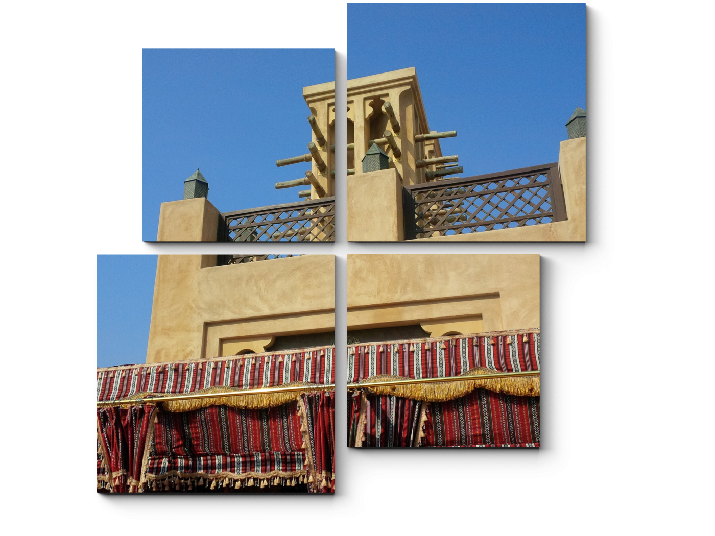 Модульная картина Арабская архитектура (50x50) фото