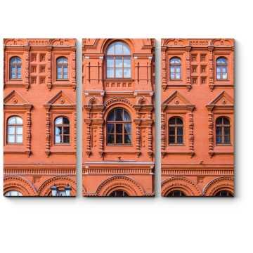 Модульная картина Классический фасад в русском стиле