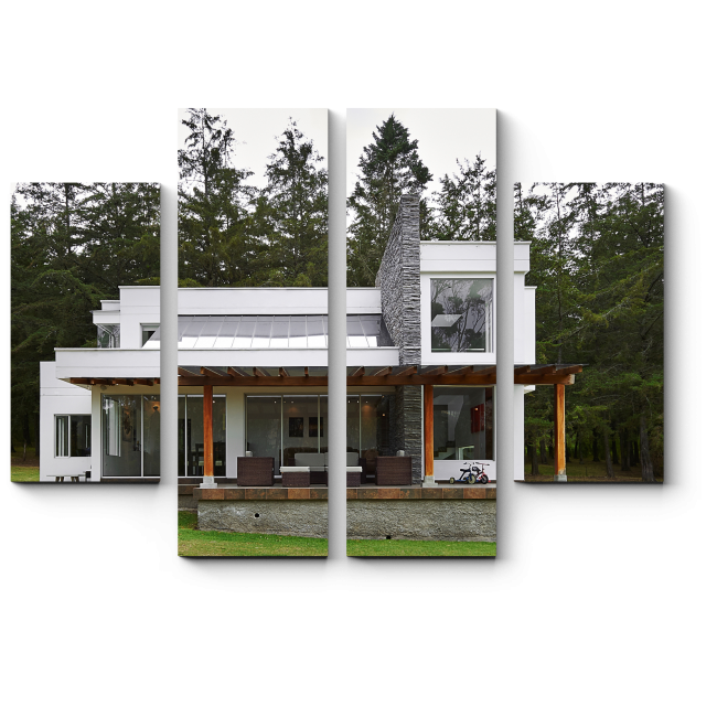 Модульная картина  Современный дом