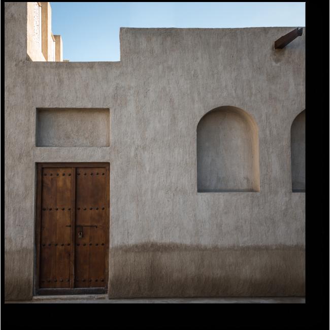 Модульная картина Фасад старого арабского дома
