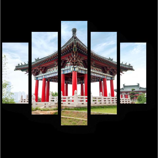 Модульная картина древняя китайская архитектура