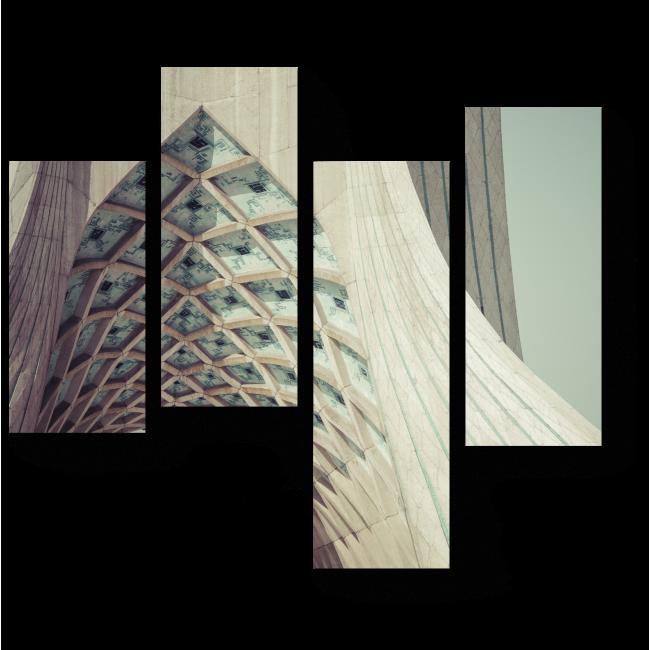 Модульная картина Взгляд на башню Азади