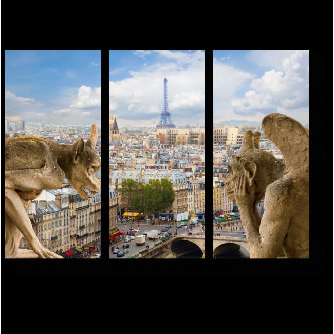 Модульная картина Горгульи на соборе Парижской Богоматери
