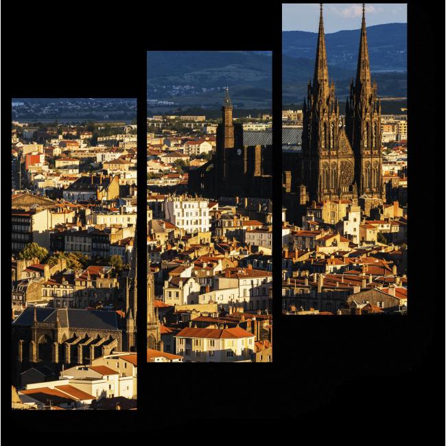 Модульная картина Кафедральный Собор на закате