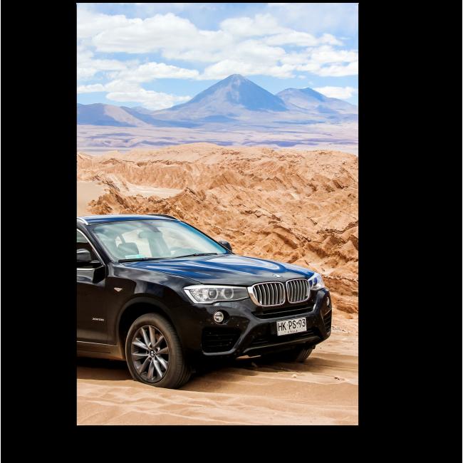 Модульная картина BMW Х4 в пустыне