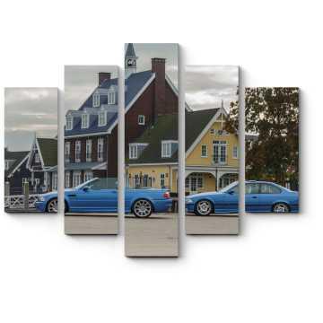 Модульная картина BMW на фене дома