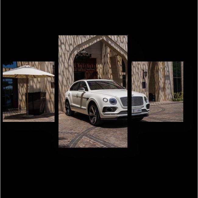 Модульная картина Роскошный белый автомобиль