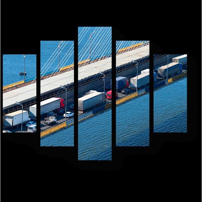 Модульная картина В пробке на мосту