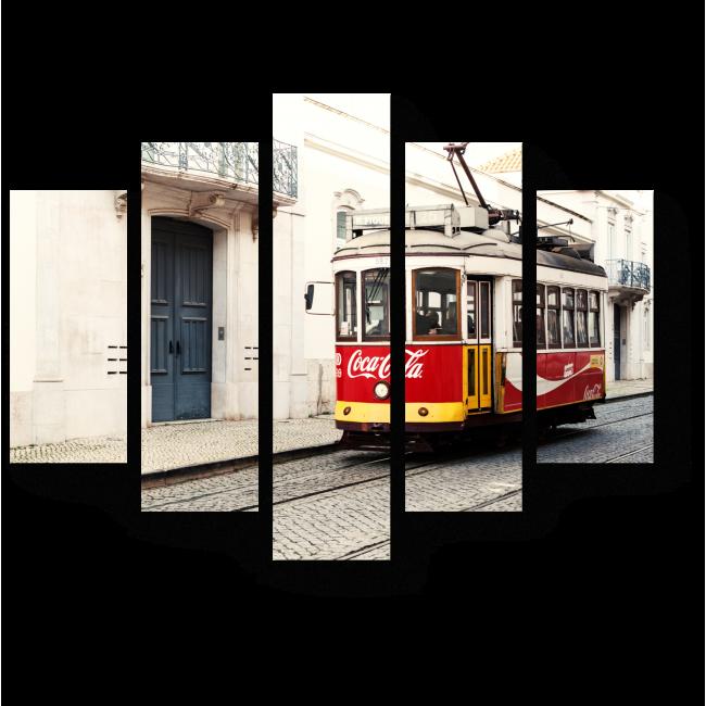 Модульная картина Трамвай Coca-Cola