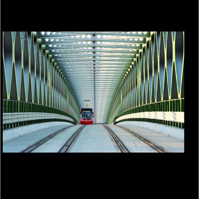 Модульная картина Братиславский трамвайный мост