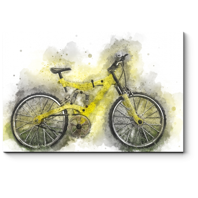 Модульная картина Абстрактный велосипед