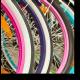 Яркие колеса велосипедов