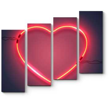 Модульная картина Яркое сердце
