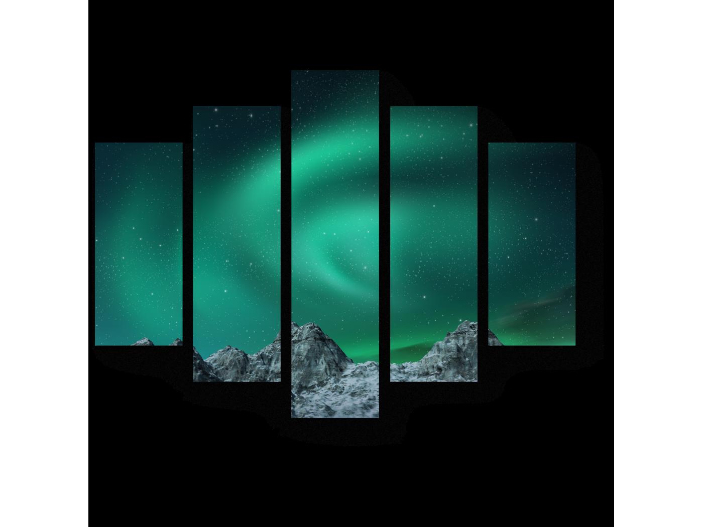 Модульная картина Необыкновенное сияние (75x60) фото
