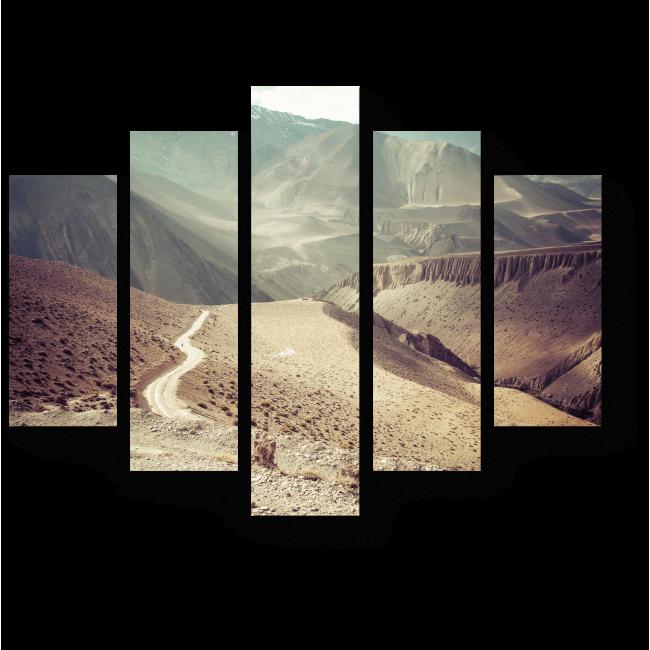 Модульная картина Дорога в горах