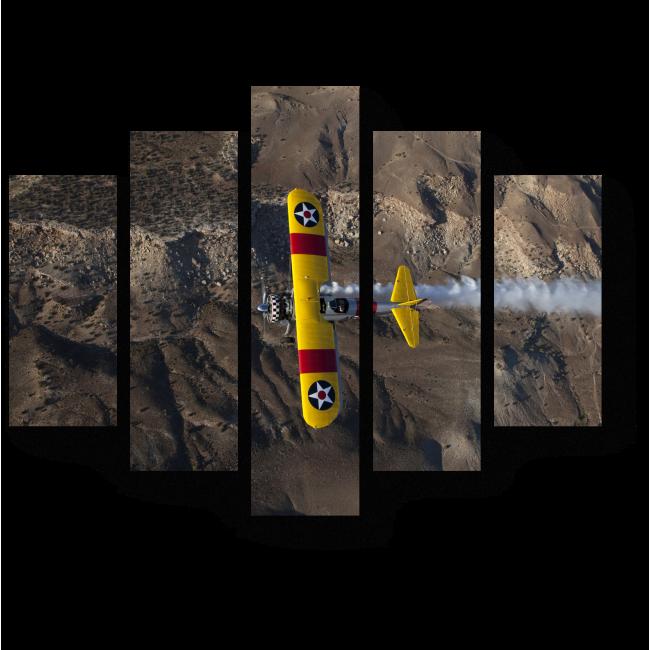Модульная картина Пролетая над пустыней