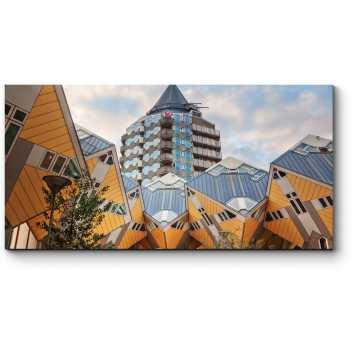 Модульная картина Кубические дома