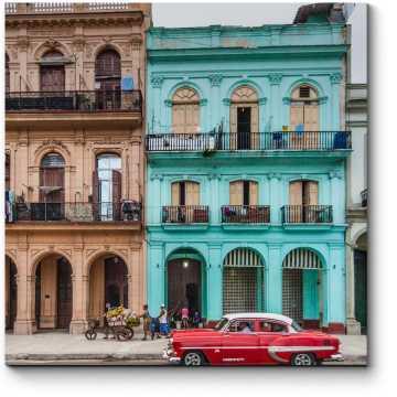 Модульная картина Красочные здания на Пасео-дель-Прадо