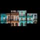 Красочные здания на Пасео-дель-Прадо