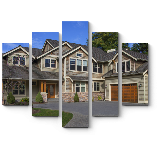 Модульная картина  Роскошный дом