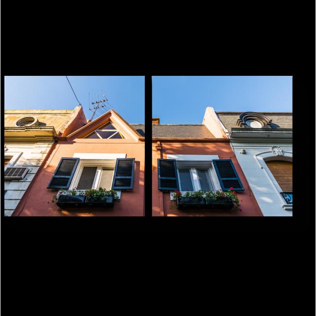 Модульная картина Красочные классические дома