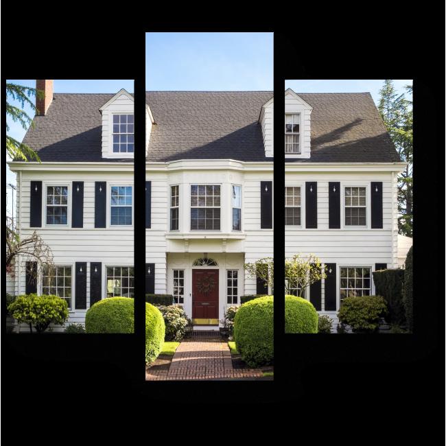 Модульная картина Классический американский загородный дом