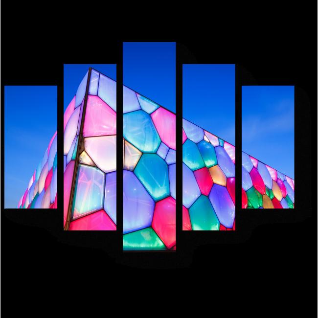 """Модульная картина """"Водный куб"""" в Пекине"""