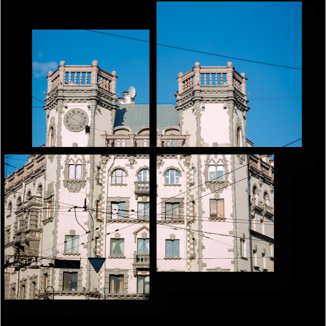 Модульная картина Фасад старого исторического здания