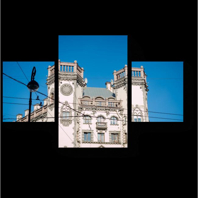 Модульная картина Здание театра в Санкт-Петербурге